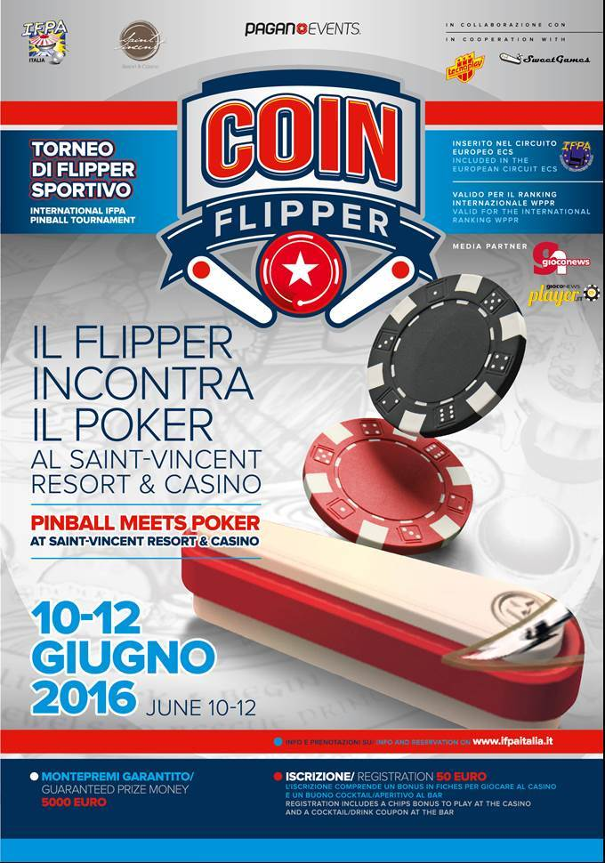 CoinFlipper: 10-12 June. Saint-Vincent Resort & Casino