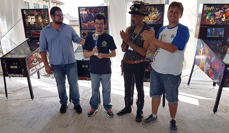 San Marino Comics Pinball Tournament: successo di Eros Mantovani